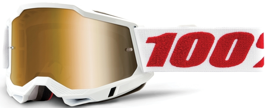100% Accuri II Extra Denver Motocross Brille, weiss-rot, weiss-rot