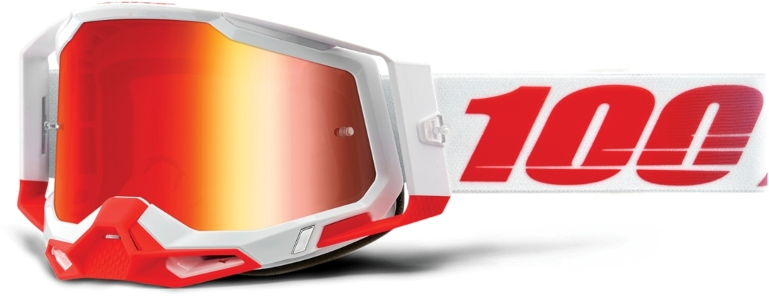 100% Racecraft II St. Kith Motocross Brille, weiss-rot, weiss-rot