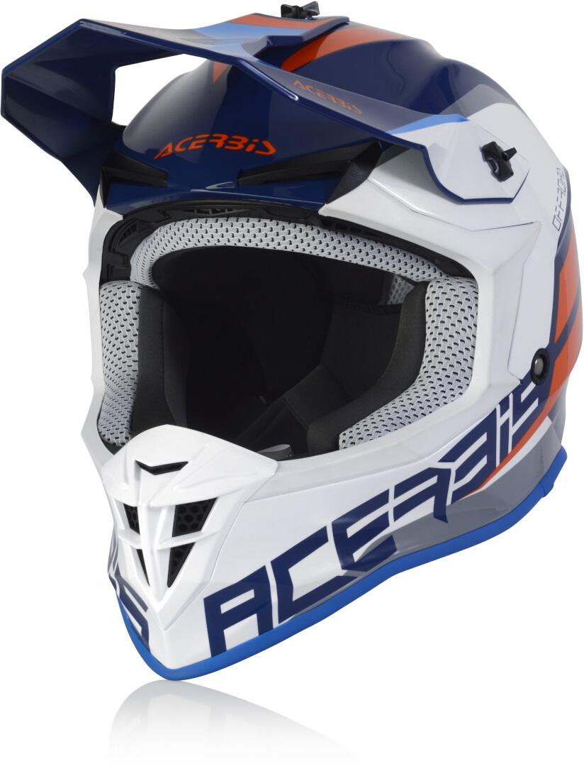Acerbis Linear Motocross Helm, weiss-türkis-blau, Größe XS, weiss-türkis-blau, Größe XS