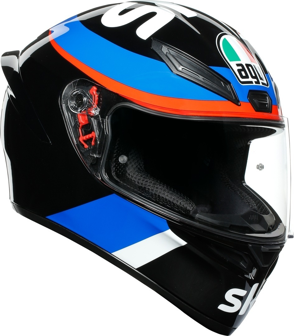 AGV K-1 VR46 Sky Racing Team Helm, schwarz-rot-blau, Größe XS, schwarz-rot-blau, Größe XS