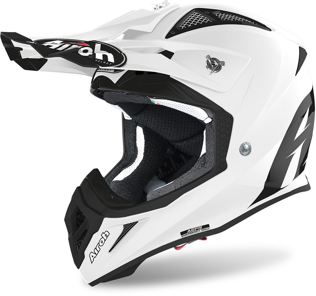 Airoh Aviator ACE Color Motocross Helm, weiss, Größe S, weiss, Größe S