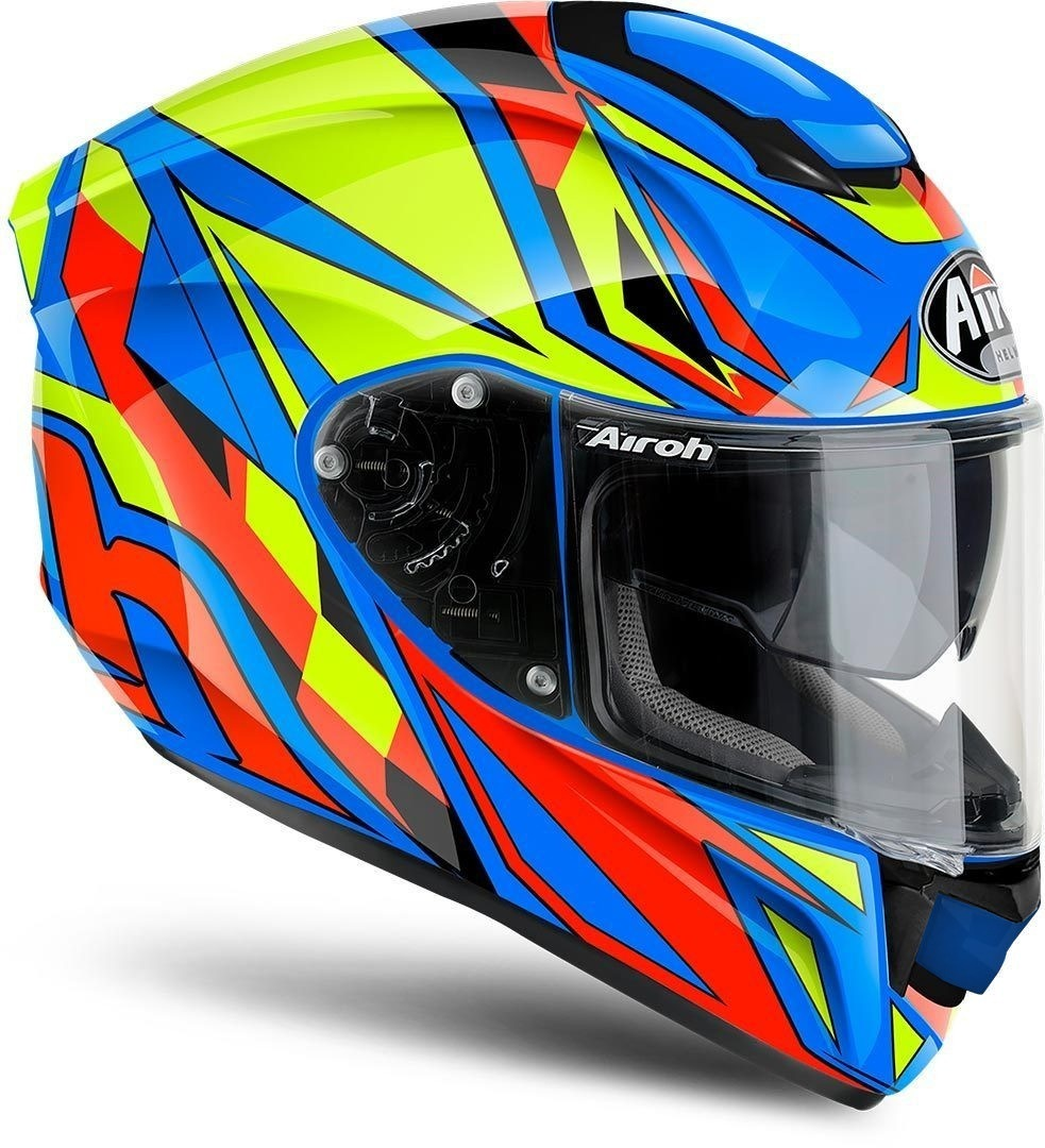 Airoh ST 501 Thunder Helm, rot-blau, Größe 2XL, rot-blau, Größe 2XL