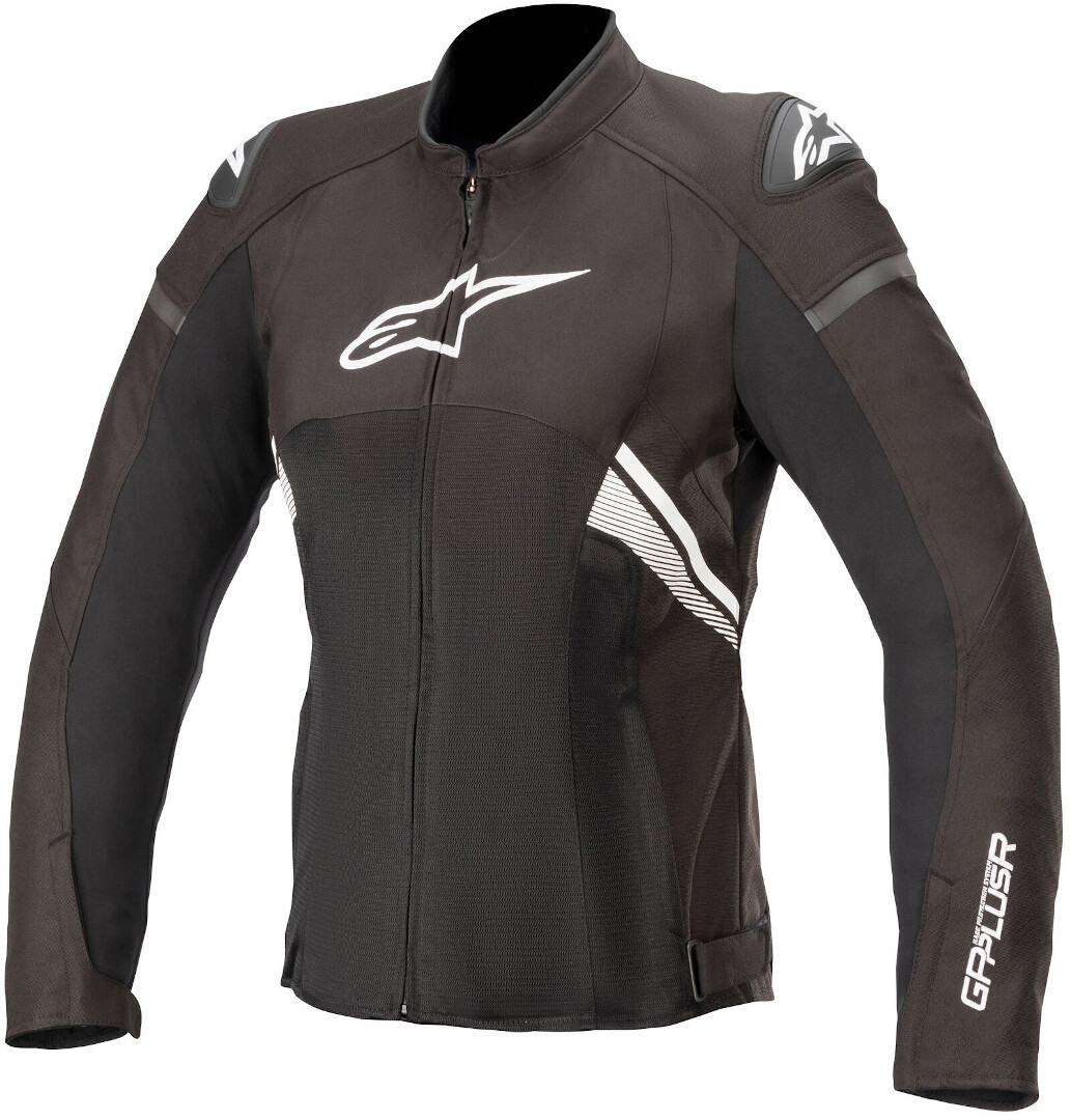 Alpinestars Stella T-GP Plus V3 Air Damen Motorrad Textiljacke, schwarz-weiss, Größe M, schwarz-weiss, Größe M