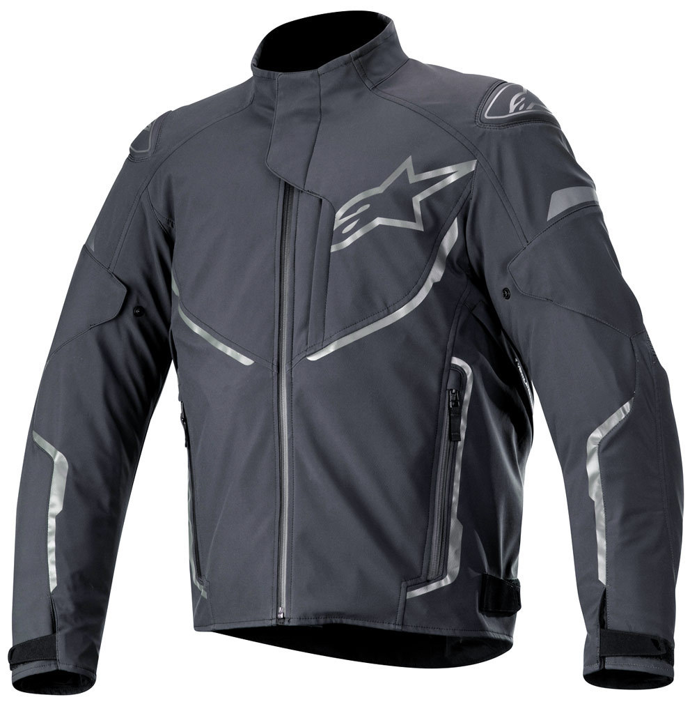 Alpinestars T-Fuse Sport wasserdichte Motorrad Textiljacke, schwarz-grau, Größe L, schwarz-grau, Größe L