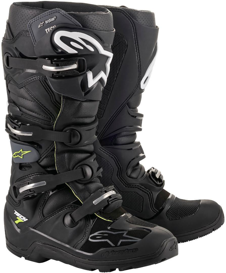Alpinestars Tech 7 Enduro Drystar Motocross Stiefel, schwarz, Größe 38, schwarz, Größe 38