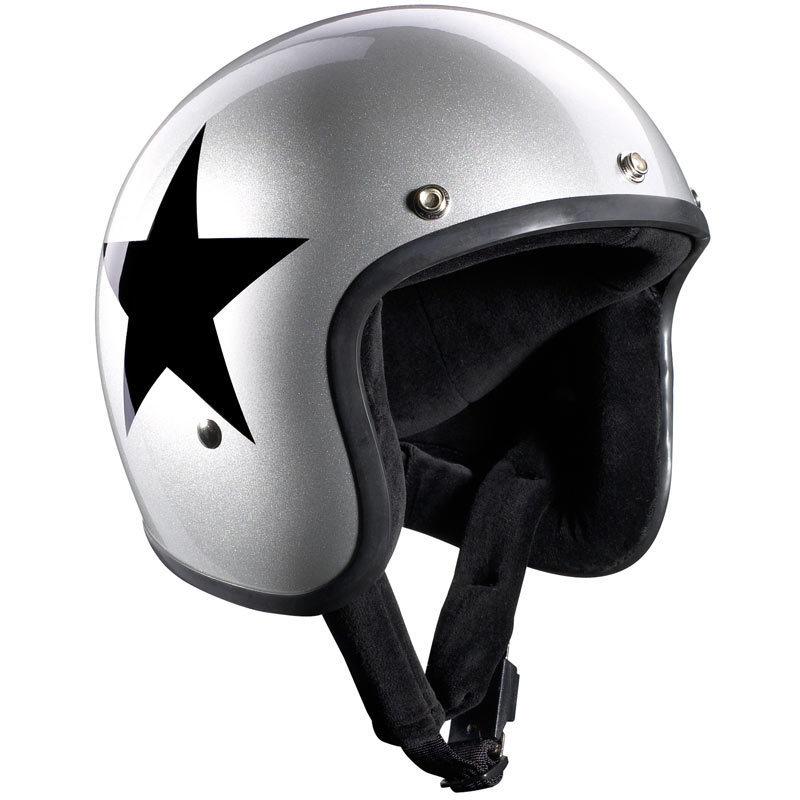 Bandit Jet Star Silber Jethelm, schwarz-silber, Größe XS, schwarz-silber, Größe XS