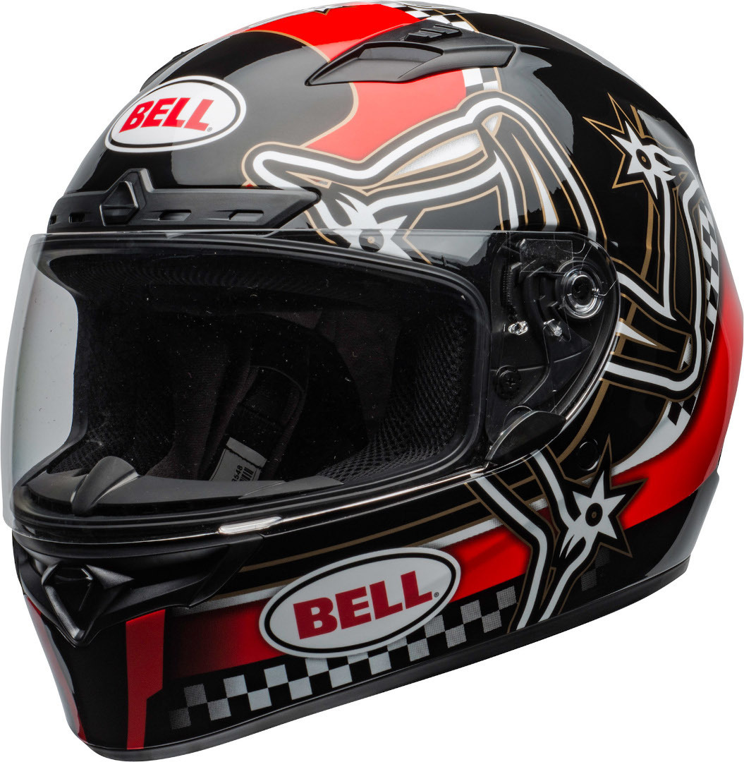 Bell Qualifier DLX Mips Isle of Man 2020 Helm, schwarz-weiss-rot, Größe XS, schwarz-weiss-rot, Größe XS