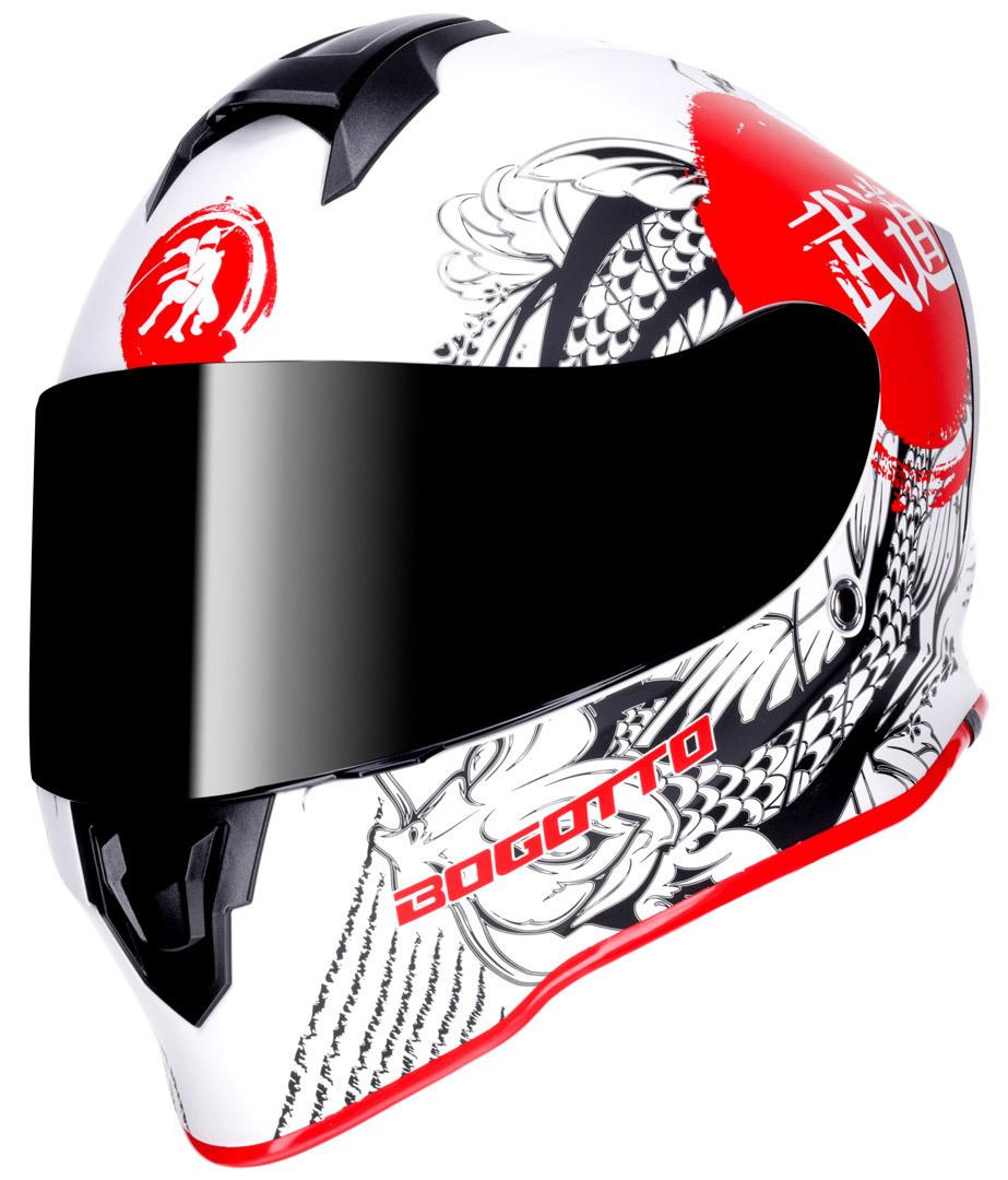 Bogotto V151 Shinee Helm, schwarz-weiss-rot, Größe XS, schwarz-weiss-rot, Größe XS