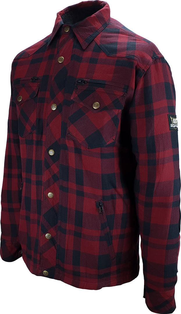 Bores Lumberjack Shirt, schwarz-rot, Größe S, schwarz-rot, Größe S