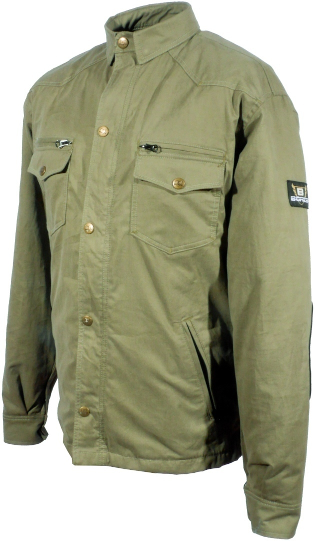 Bores Military Jack Olive Motorrad Hemd, grün, Größe 3XL, grün, Größe 3XL