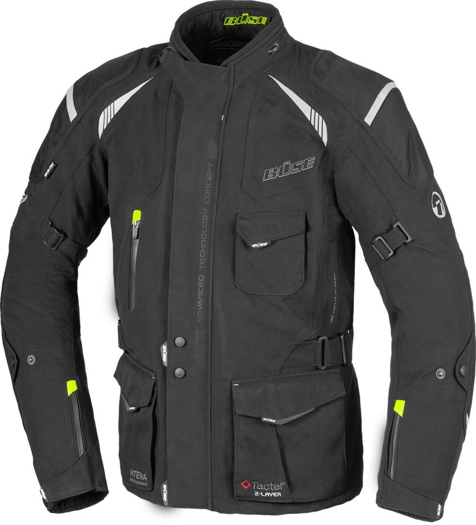 Büse Grado Motorrad Textiljacke, schwarz, Größe 48, schwarz, Größe 48