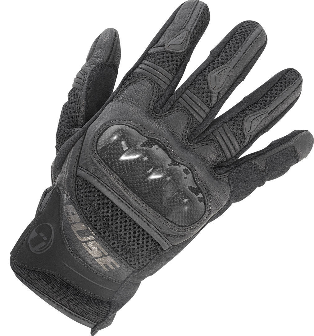 Büse Safe Ride Motorradhandschuhe, schwarz, Größe M L, schwarz, Größe M L