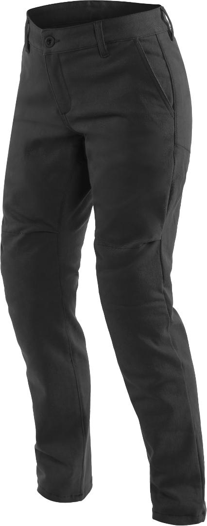 Dainese Chinos Damen Motorrad Textilhose, schwarz, Größe 24, schwarz, Größe 24