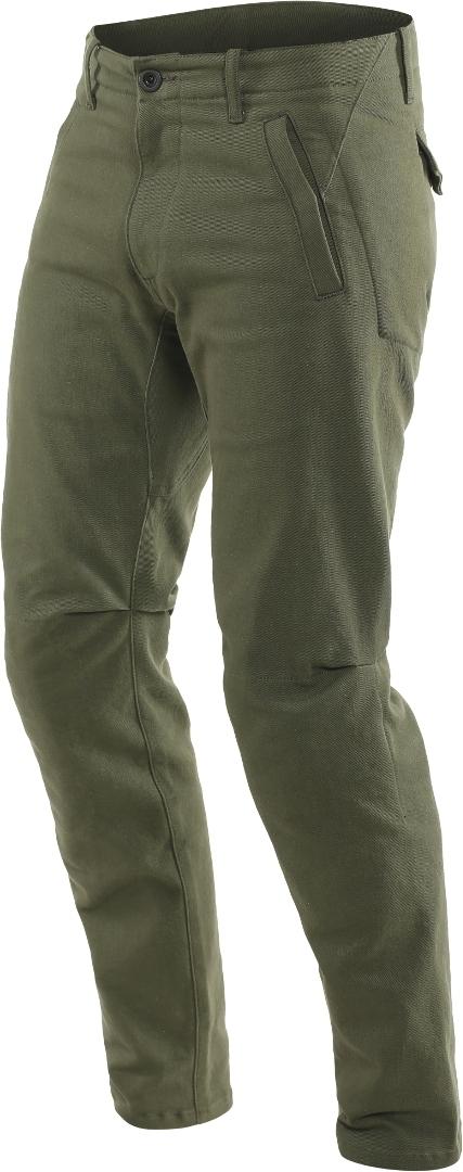Dainese Chinos Motorrad Textilhose, grün, Größe 28, grün, Größe 28