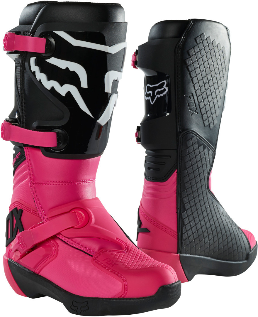 FOX Comp Damen Motocross Stiefel, schwarz-pink, Größe 38, schwarz-pink, Größe 38