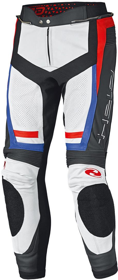 Held Rocket 3.0 Motorrad Lederhose, weiss-rot-blau, Größe 48, weiss-rot-blau, Größe 48