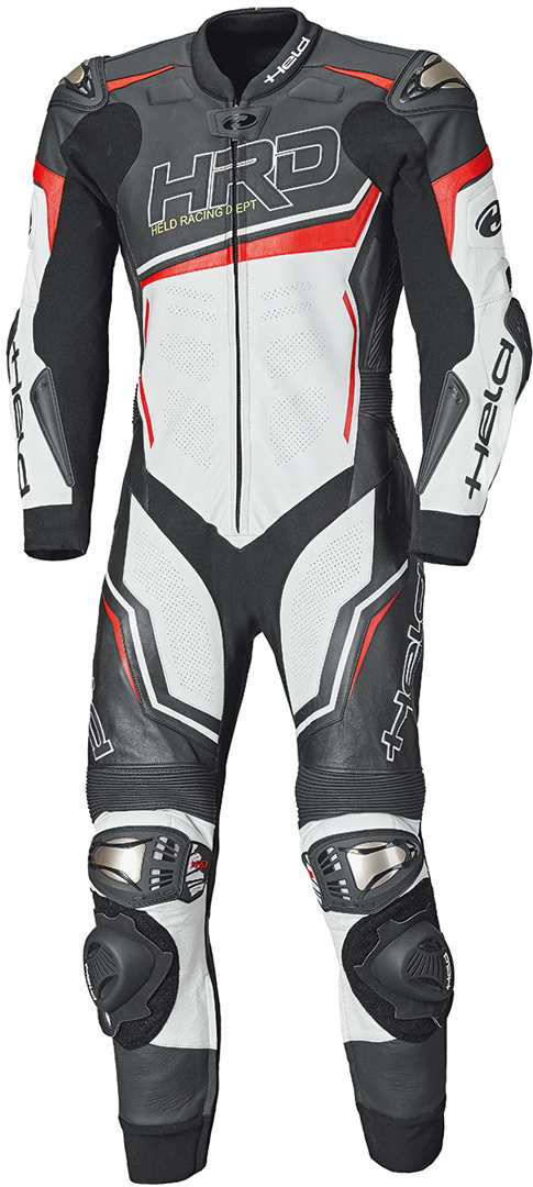 Held Slade II 1-Teiler Motorrad Lederkombi, schwarz-weiss-rot, Größe 46, schwarz-weiss-rot, Größe 46