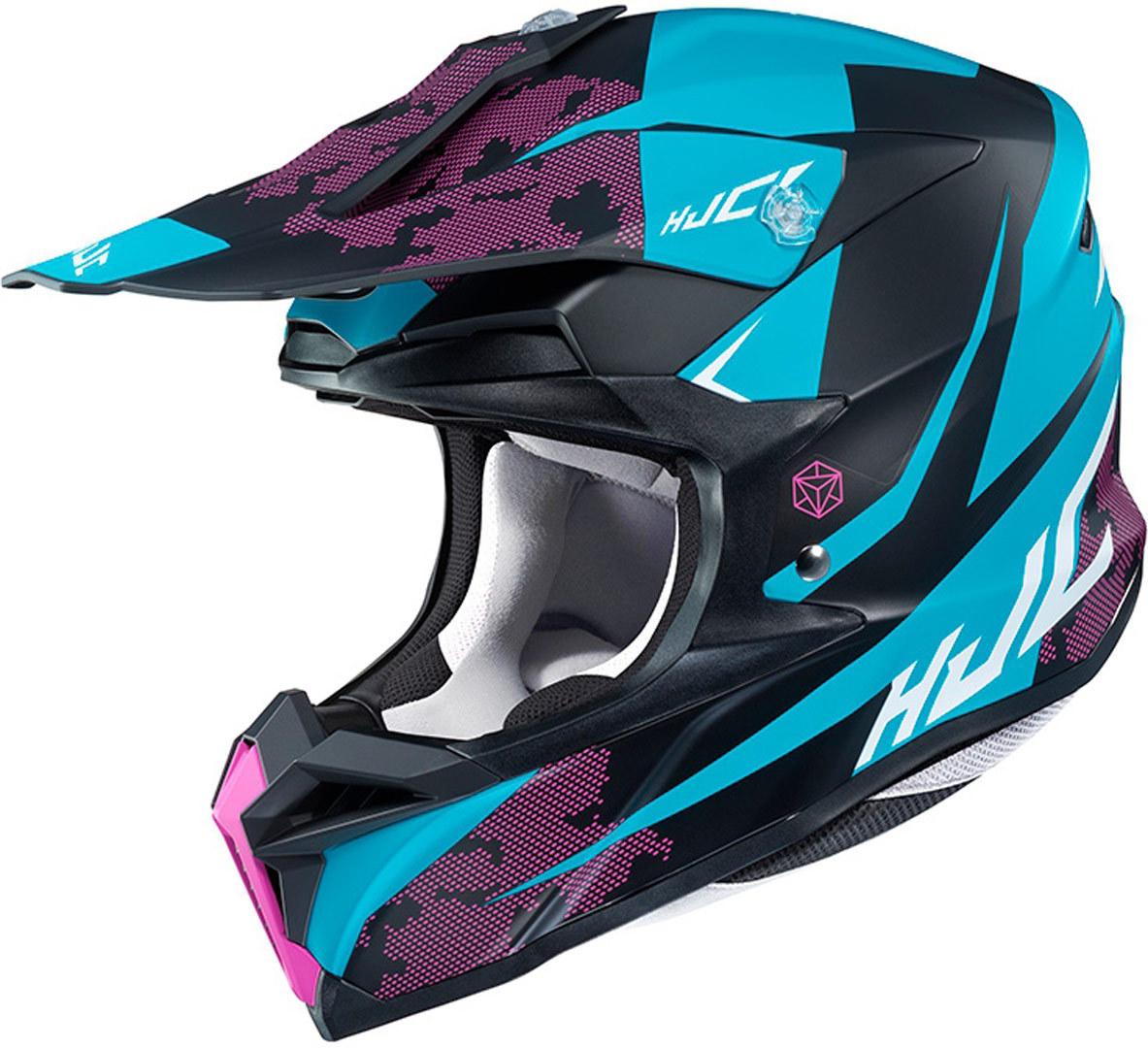 HJC i50 Tona Motocross Helm, schwarz-blau, Größe M, schwarz-blau, Größe M