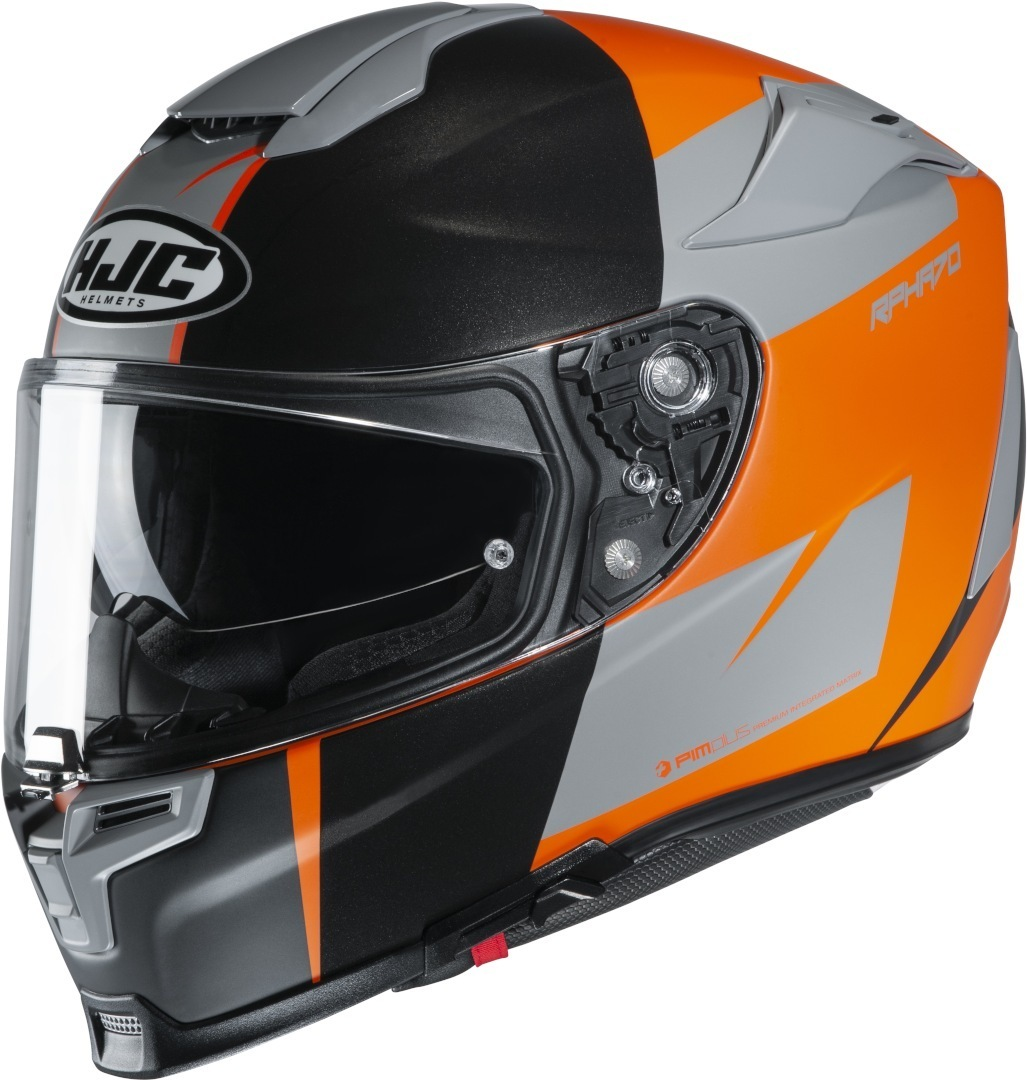 HJC RPHA 70 Terika Helm, schwarz-orange, Größe XS 54 55, schwarz-orange, Größe XS 54 55